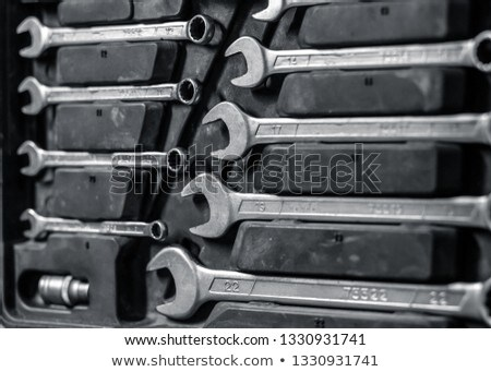 Spanners of various sizes close-up Stock photo © OleksandrO