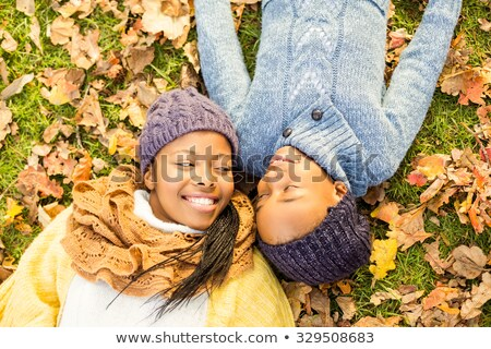 Mother and daughter looking at tree Stock photo © IS2
