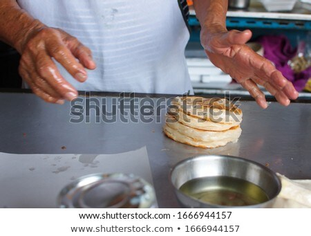 Crop hand making picture of dessert Stock photo © dash