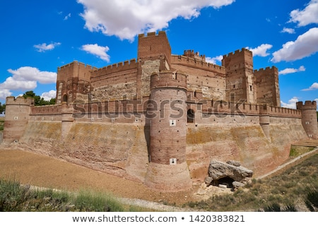 Medina del Campo village in Spain Mota castle Stock photo © lunamarina