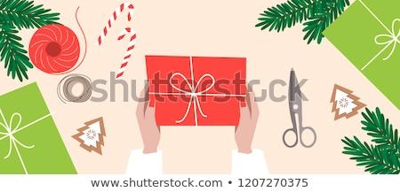 Procede nieuwjaar christmas geschenk tak Stockfoto © TanaCh