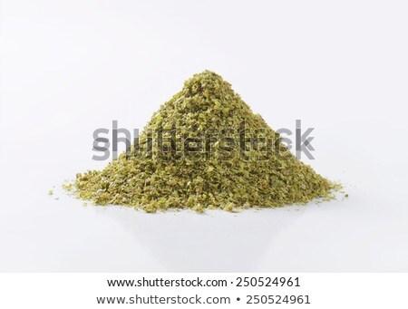 Séché laisse verre bol herbe personne Photo stock © Digifoodstock