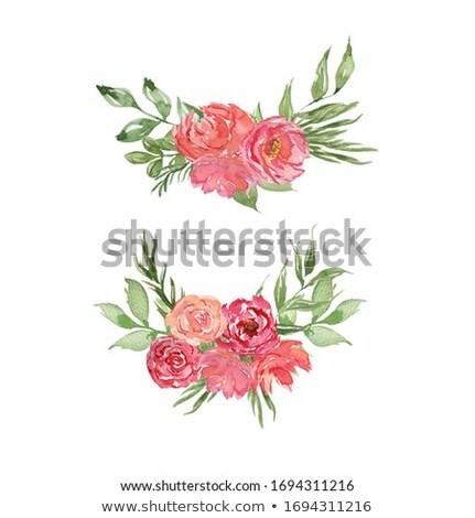 Easter card with red and pink flowers. Stock photo © Artspace