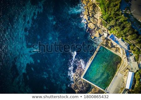Freshwater beach aerial shot waves on beach Stock photo © lovleah