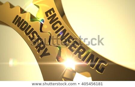 Chemical Industry on Golden Cogwheels. 3D Illustration. Stock photo © tashatuvango