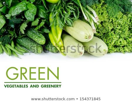 Stock fotó: Zöld · zöldség · hazugságok · friss · levél · eszik