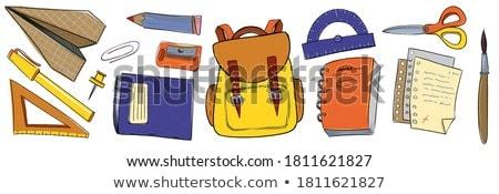 Cartoon cute colorido dibujado a mano garabatos escuela Foto stock © balabolka