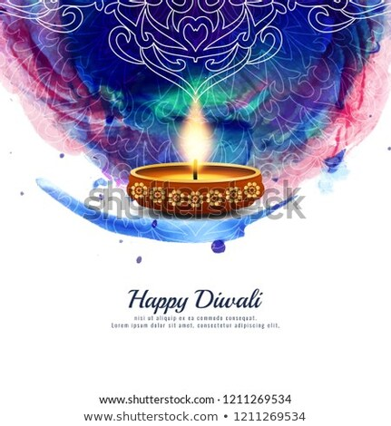 happy dhanteras watercolor festival card design background Stock photo © SArts