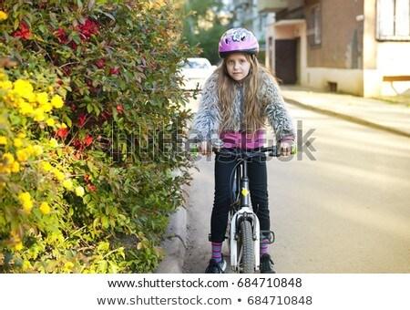 школы ребенка девушки сидят розовый корзины Сток-фото © ElenaBatkova