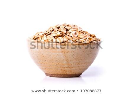 セラミック ボウル 穀物 孤立した 白 ストックフォト © Lady-Luck