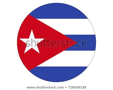 Cuba flag, vector illustration on a white background Stock photo © butenkow