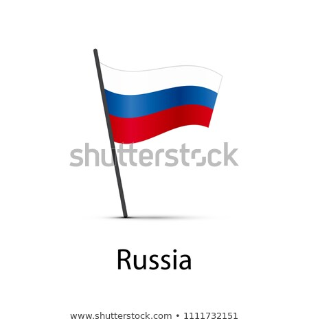 Russia flag on pole, infographic element on white Stock photo © evgeny89