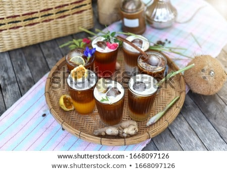 Different trendy cold coffee drink Stock photo © furmanphoto