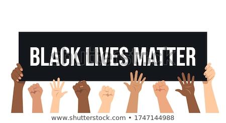 Black lives matter. Vector illustration with hand Stock photo © m_pavlov