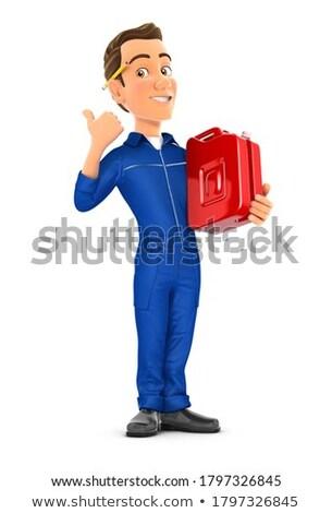 3D mechanik stałego benzyny puszka Zdjęcia stock © 3dmask