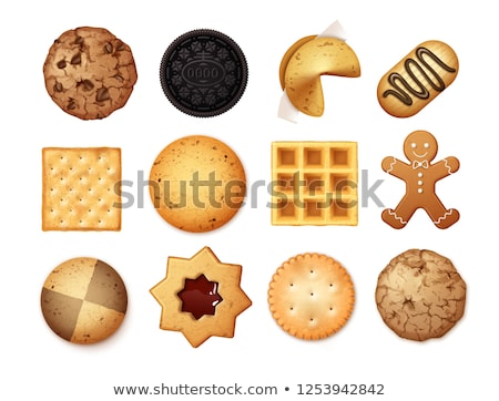 vector set of cookies and biscuits Stock photo © olllikeballoon