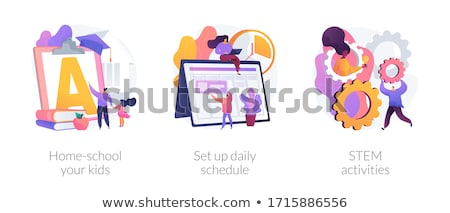 Set up daily schedule abstract concept vector illustration. Stock photo © RAStudio