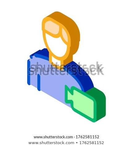 Video operatore umani talento isometrica icona Foto d'archivio © pikepicture