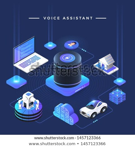 Smartphone Voice Control isometric icon vector illustration Stock photo © pikepicture