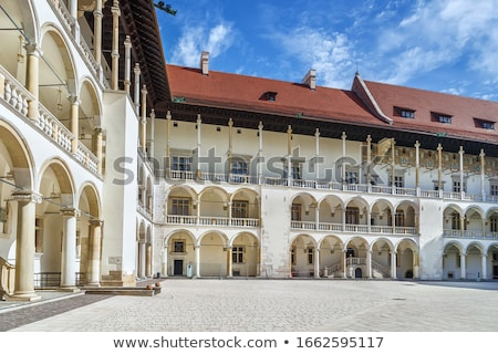 Wawel Renaissance Arcaded Courtyard Krakow Poland Stockfoto © Borisb17