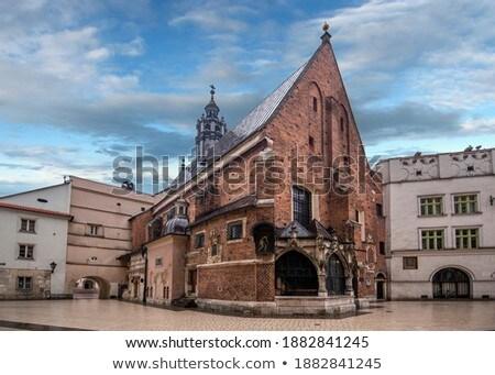 Templom Krakkó Lengyelország gótikus tér égbolt Stock fotó © borisb17