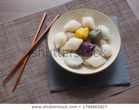 Párolt fehér rizs közelkép étel szín Stock fotó © zkruger