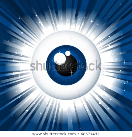 regarder · espion · globe · oculaire · bleu · star - photo stock © adrian_n