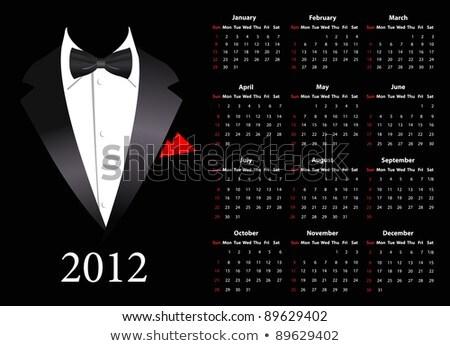 Vector American Calendar 2012 With Elegant Suit Photo stock © Elisanth