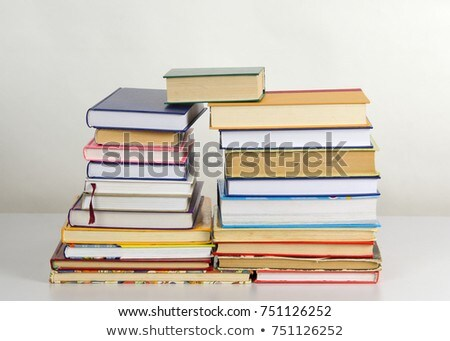 Row of colorful books' spines - Library concept Stock photo © AndreyKr