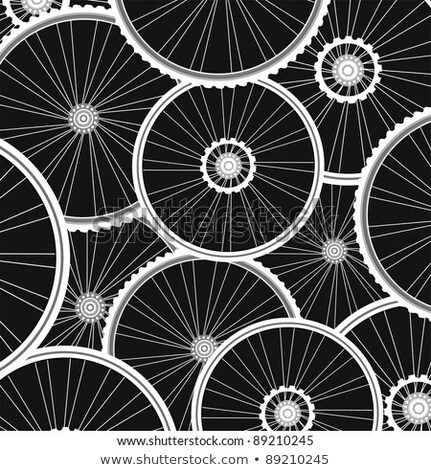 Bicycle Background From Many White Wheels Vector Stock fotó © fotoscool