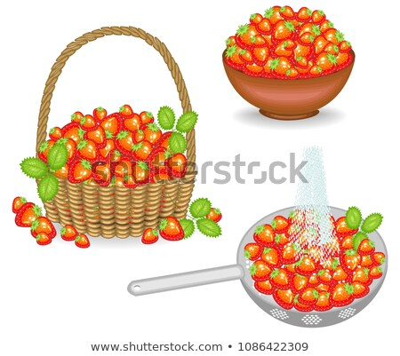 Colander with strawberry Stock photo © zhekos