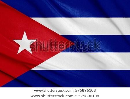 tecido · textura · bandeira · Cuba · azul · arco - foto stock © maxmitzu