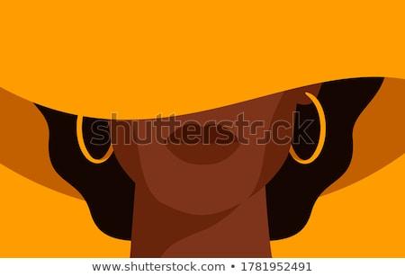 женщину Hat красивой азиатских улыбаясь Сток-фото © luminastock