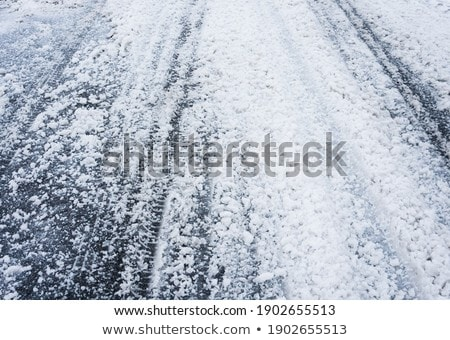 tread pattern tire frozen ground stock photo © fotoaloja