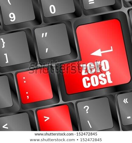 Zero Cost Button On Computer Keyboard Key Сток-фото © fotoscool