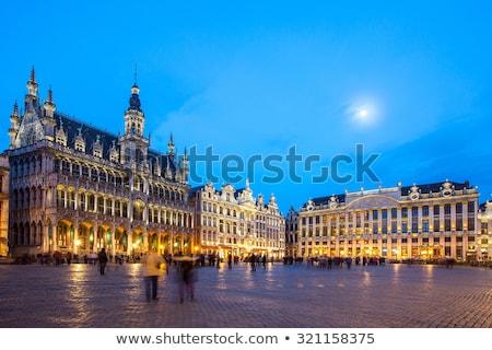 Maison Du Roi Building Grand Place Brussels Belgium Stok fotoğraf © vichie81