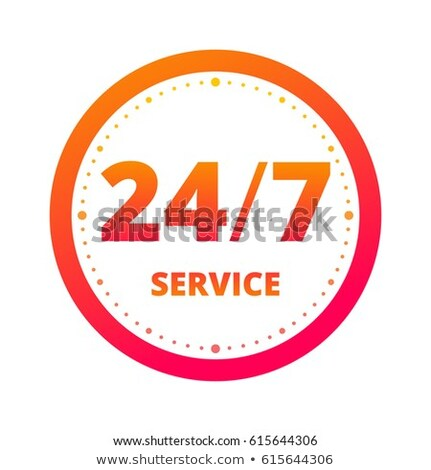 24 Hours Support golden Vector Icon Design Stock photo © rizwanali3d