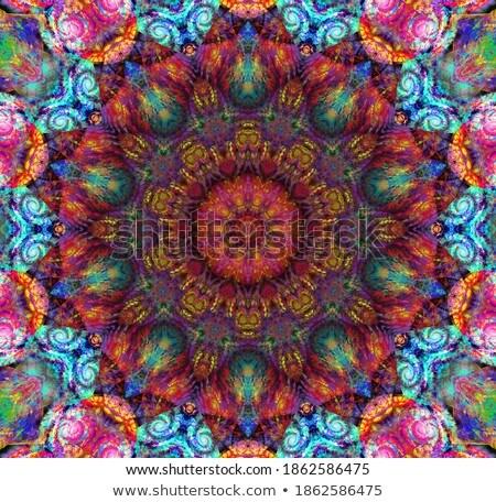 fractal · illustratie · heldere · ornament · bloem - stockfoto © yurkina
