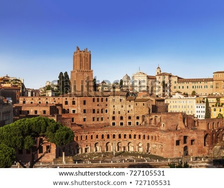 the ruins of trajans market mercati di traiano in rome stock photo © meinzahn