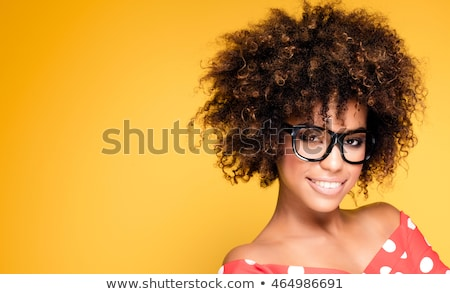 african american woman with afro hairstyle posing stock photo © neonshot