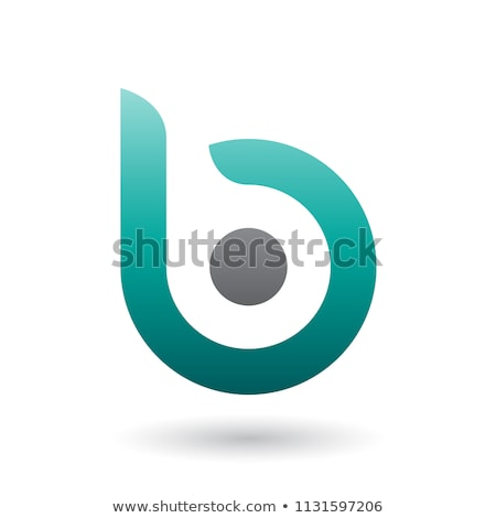 Persian Green Round Bold Icon for Letter B Vector Illustration Stock photo © cidepix
