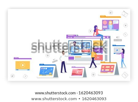 Vídeo teia página texto amostra dispositivos Foto stock © robuart