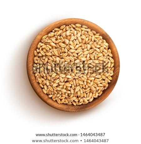 tazón · trigo · blanco · superficial - foto stock © AGfoto
