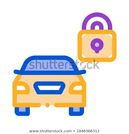 Machine veilig gesloten icon vector schets Stockfoto © pikepicture