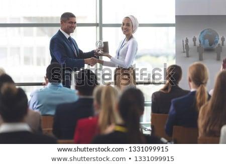 Vue métis femme d'affaires attribution noir Photo stock © wavebreak_media