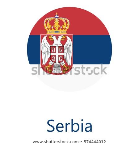 Szerbia zászló fehér utazás nyomtatott ecset Stock fotó © butenkow