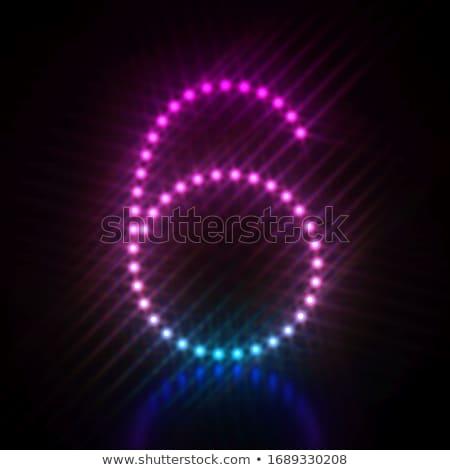 Pink blue dot light font Number 6 SIX 3D Stock photo © djmilic