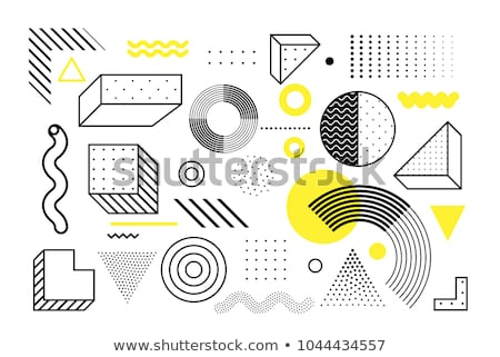 Brilhante amarelo triângulo meio-tom abstrato bandeira Foto stock © SArts