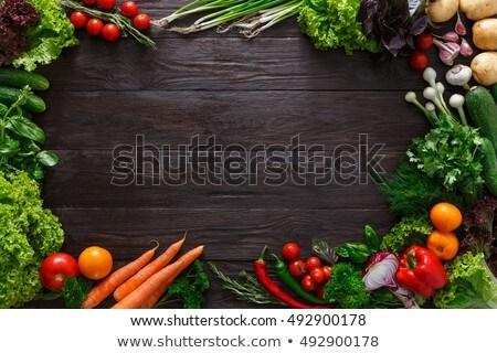 Taze organik soğan rustik Stok fotoğraf © marylooo