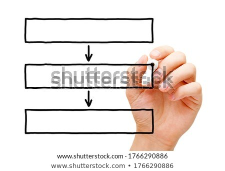 Mão desenho três caixa fluxograma diagrama Foto stock © ivelin
